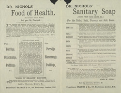 Advert For Dr. T. L. Nichols Health Advice reverse